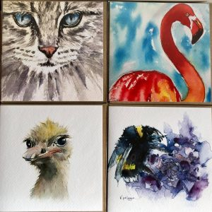 Pack of Four Animal Cards