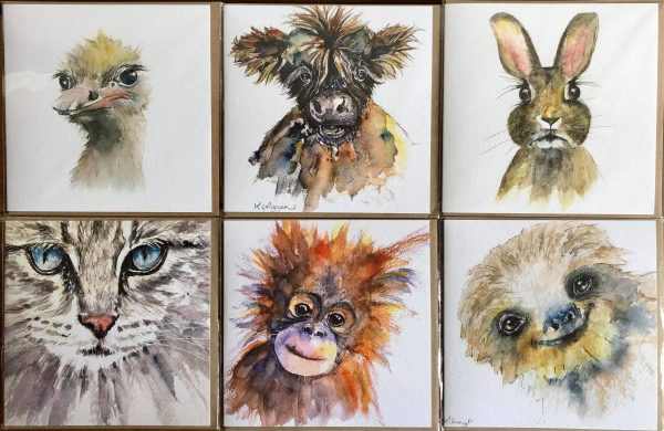 Pack of Six Animal Cards