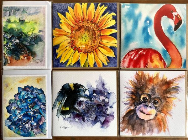 Pack of Six Animal and Nature Cards