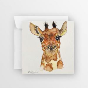 Baby Giraffe Greetings Card
